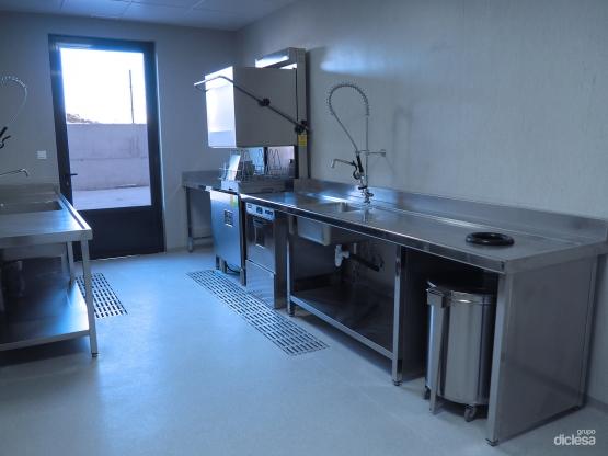 Cocina industrial - Zona de lavado